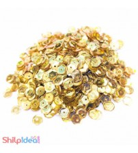 Sequins Round Cupped 5mm - Golden