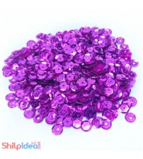 Sequins Round Cupped 5mm - Purple